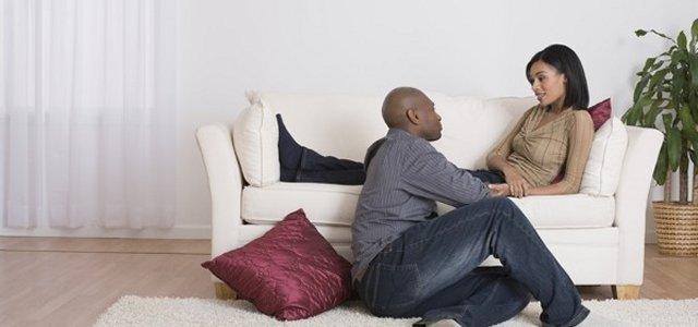 black-couple-having-conversation